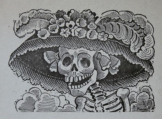 La Catrina. Calavera Garbancera. José Guadalupe Posada.