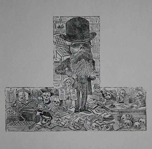 Calavera de Vanegas. José Guadalupe Posada.